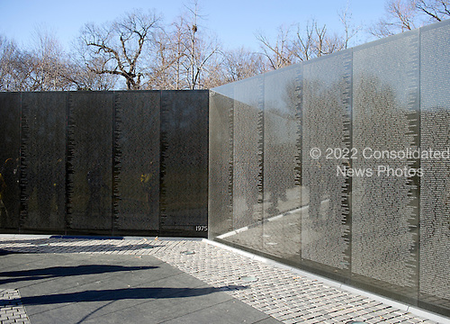 Walls of names that comprise part of the Vietnam Veterans Memorial in Washington, D.C. on Sunday, January 15, 2012..Credit: Ron Sachs / CNP