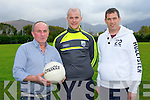James Sheehan manager left with Kieran O'Shea physio, Gary McGrath Trainer