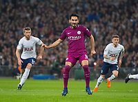 Manchester City Ilkay Gundogan  after scoring from penalty spot during the Premier League match between Tottenham Hotspur and Manchester City at Wembley Stadium, London, England on 14 April 2018. Photo by Andrew Aleksiejczuk / PRiME Media Images.