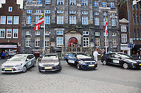 The Netherlands, Den Bosch, 16.04.2014. Fed Cup Netherlands-Japan, official cars at Ciyt Hall<br /> Photo:Tennisimages/Henk Koster