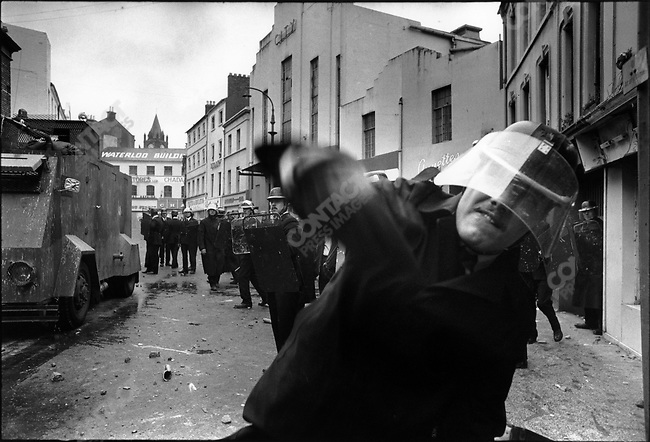 Ulster police, Battle of the Bogside, Londonderry, Northern Ireland, August 1969