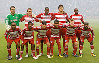 FC Dallas starting eleven. The LA Galaxy defeated FC Dallas 2-1 at Home Depot Center stadium in Carson, California on Sunday October 24, 2010.