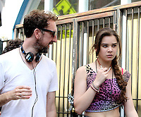 July 06, 2012 Director John Carney, Hailee Steinfeld, shooting on location for new VH-1 movie Can a Song Save Your Life? in New York City.Credit:&copy; RW/MediaPunch Inc. *NORTEPHOTO.COM*<br />