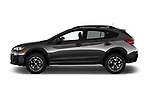 Car driver side profile view of a 2018 Subaru Crosstrek 4wd 5 Door SUV