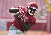 Arkansas spring football practice 4/8/2017