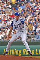 Royals RHP Mike MacDougal enters the game against the Chicago White Sox in the ninth inning on opening day at Kauffman Stadium in Kansas City, Missouri on March 31, 2003. Kansas City won, 3-0.