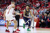RALEIGH, NC - JANUARY 9: Prentiss Hubb #3 of the University of Notre Dame runs the offense during a game between Notre Dame and NC State at PNC Arena on January 9, 2020 in Raleigh, North Carolina.