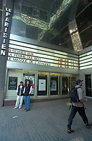 June 10,  2001, Montreal, Quebec, Canada<br /> <br /> Filmgoers pass by the entrance of the Parisien Cinema , on Ste-Catherine Street in Montreal, Canada.<br /> The Parisien is one of the fewMontreal's  cinema  that shows europeans movies.<br /> NOTE : No model /property release available.<br />  <br /> Mandatory Credit: Photo by Pierre Roussel- Images Distribution. (©) Copyright 2001 by Pierre Roussel <br /> ON SPEC<br /> <br /> NOTE l Nikon D-1 jpeg opened with Qimage icc profile, saved in Adobe 1998 RGB.