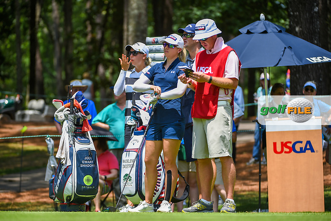 Jodi Ewart Shadoff (ENG) looks over her tee shot on 1 during round 3 of the U.S. Women's Open Championship, Shoal Creek Country Club, at Birmingham, Alabama, USA. 6/2/2018.<br /> Picture: Golffile | Ken Murray<br /> <br /> All photo usage must carry mandatory copyright credit (© Golffile | Ken Murray)