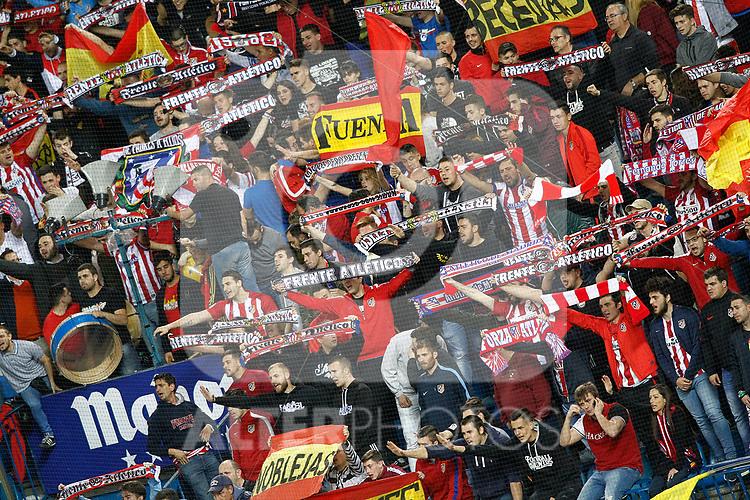 Atletico de Madrid's supporters during La Liga match. April 4,2017. (ALTERPHOTOS/Acero)