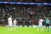13th September 2017, Wembley Stadium, London, England; Champions League Group stage, Tottenham Hotspur versus Borussia Dortmund; Jan Vertonghen of Tottenham Hotspur is shown a red card