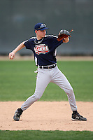 January 17, 2010:  Tyler Brewer (New Bern, NC) of the Baseball Factory Southeast Team during the 2010 Under Armour Pre-Season All-America Tournament at Kino Sports Complex in Tucson, AZ.  Photo By Mike Janes/Four Seam Images