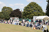 A general view round the boundary as the crowd gathers before the fixture between Upminster CC vs Essex CCC, Benefit Match Cricket at Upminster Park on 8th September 2019