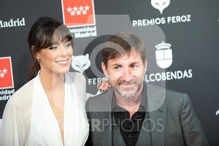 MADRID, SPAIN - JANUARY 16: Actress Belen Cuesta and actor Antonio de la Torre attends Feroz awards 2020 red carpet at Teatro Auditorio Ciudad de Alcobendas on January 16, 2020 in Madrid, Spain.<br /> (David Jar / Alterphotos)
