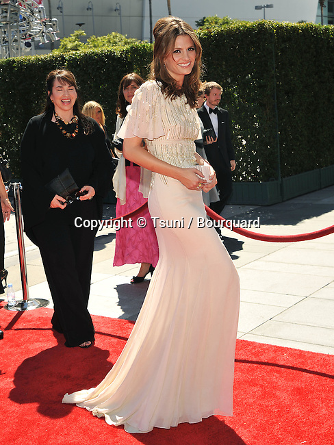 Stana Katic<br /> 2010 Creative Emmy Awards at the Nokia Theatre In Los Angeles.