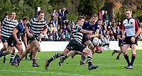 Action from UC Championship and UC Cup Secondary schools rugby match between Christ's College and Christchurch Boys' High School at Christ's College in Christchurch, New Zealand on Thursday, 31 May 2018. Photo: Martin Hunter / lintottphoto.co.nz