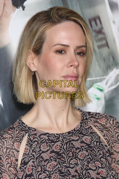 LOS ANGELES, CA - FEBRUARY 24: Sarah Paulson at the &quot;Non-Stop&quot; Premiere, Village Theater, Westwood,  February 24, 2014. <br /> CAP/MPI/JO<br /> &copy;JO/MPI/Capital Pictures