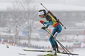 9th December 2017, Biathlon Centre, Hochfilzen, Austria; IBU Biathlon World Cup; Justine Braisaz (FRA) during the womens 7.5KM sprint