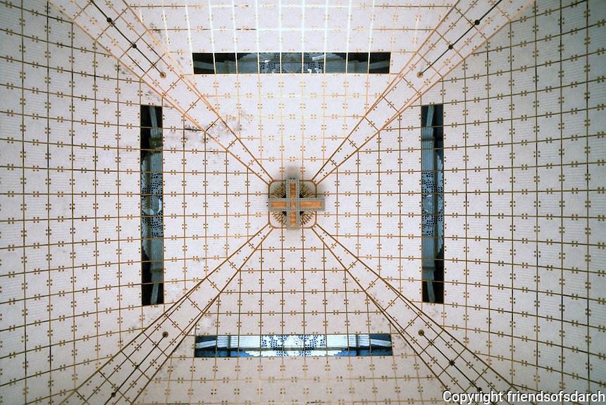 Otto Wagner: Church AM Steinhof, Vienna. Ceiling detail.