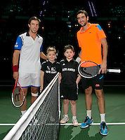 Rotterdam, The Netherlands. 15.02.2014. Igor Sijsling(NED) and Marin Cilic(KRO) at the ABN AMRO World tennis Tournament<br /> Photo:Tennisimages/Henk Koster