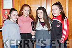 Clodagh Swanser, Dayna Horan, Alex Sheehan and Orla O'Donoghue at the St Marys Basketball club awards in the River Island Hotel