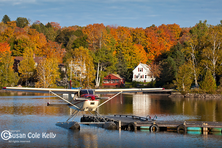 A floatplane on Moosehead Lake, Greenville, ME, USA