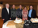 Rita Hanratty celebrating her 50th birthday in The Glenside Hotel with husband Declan and friends Fr. Jim, Fr. Tony and Fr. Archie. Photo:Colin Bell/pressphotos.ie