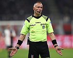 The referee Paolo Valeri during the Coppa Italia match at Giuseppe Meazza, Milan. Picture date: 13th February 2020. Picture credit should read: Jonathan Moscrop/Sportimage