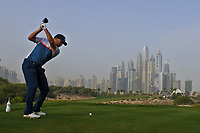 Darren Fichardt (RSA) on the 8th tee during Round 1 of the Omega Dubai Desert Classic, Emirates Golf Club, Dubai,  United Arab Emirates. 24/01/2019<br /> Picture: Golffile | Thos Caffrey<br /> <br /> <br /> All photo usage must carry mandatory copyright credit (&copy; Golffile | Thos Caffrey)