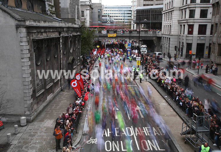 **ALL ROUND PICTURES FROM SOLARPIX.COM**.**NO UK NEWSPAPER PUBLICATION **UK MAGAZINE & SUPPLEMENT PUBLICATION ONLY** AND NO PUBLICATION IN FRANCE, SCANDINAVIA, AUSTRALIA AND GERMANY** .The London Marathon in central London today..JOB REF:6126         SFE       DATE: 13.4.08.**MUST CREDIT SOLARPIX.COM OR DOUBLE FEE WILL BE CHARGED* *UNDER NO CIRCUMSTANCES IS THIS IMAGE TO BE REPRODUCED FOR ANY ONLINE EDITION WITHOUT PRIOR PERMISSION*