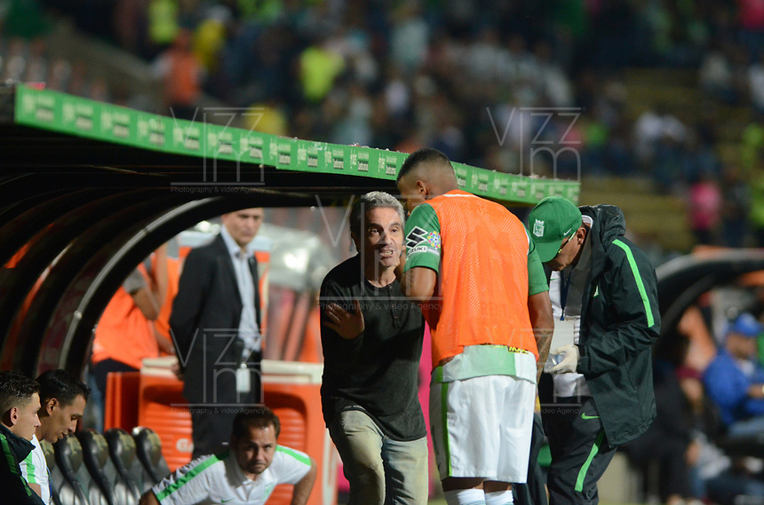 MEDELLIN -COLOMBIA, 20-8-2017. Juan Manuel Lillo director técnico de Atlético Nacional.Atlético Nacional y Alianza Petrolera durante partido por la fecha 9 de la Liga Aguila II 2017 jugado en el estadio Atanasio Girardot de la ciudad de Medellín. / Juan Manuel Lillo coach of Atletico Nacional.Atlético Nacional  and Alianza Petrolera during match for the date 9 of the Aguila League II 2017 played at Atanasio Girardot stadium in Medellin city. Photo:VizzoImage /León Monsalve  / Stringer
