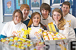 Students at Mercy Mounthawk who organised a cake sale for Daffodil Day. .Front L-R Stacey Conway, Alison O'Sullivan and Emer Leahy. .Back L-R Donal Fitzgibbon, Daniel Pierse and Kevin Hanafin.