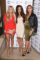 Amber Turner and Megan McKenna<br /> arriving at James Ingham&rsquo;s Jog On To Cancer, in aid of Cancer Research UK at The Roof Gardens in Kensington, London. <br /> <br /> <br /> &copy;Ash Knotek  D3248  12/04/2017