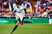 17th March 2019, Mestalla Stadium, Valencia, Spain; La Liga football, Valencia versus Getafe; Dani Parejo of Valencia CF strikes towards goal