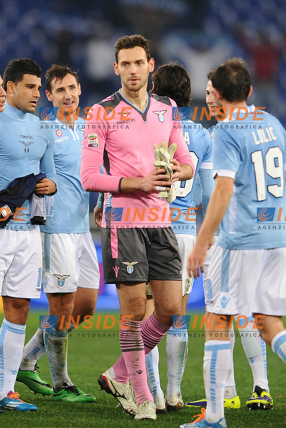 Etrit Berisha Lazio.<br /> Roma 06-01-2014 Stadio Olimpico. Football Calcio 2013/2014 Serie A. Lazio - Inter. Foto Antonietta Baldassarre / Insidefoto