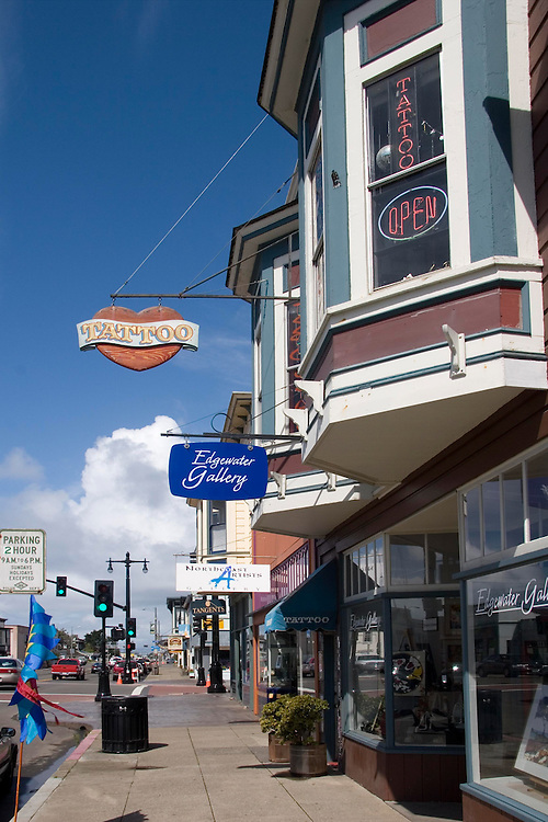 Street scenes in downtown Fort Bragg on the Mendocino Coast