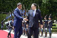 Roma, 4 Luglio 2014<br /> Si &egrave; tenuto a Villa Madama l'incontro tra il presidente del Consiglio dei Ministri, Matteo Renzi, e il presidente della Commissione Europea Jos&eacute; Manuel Dur&atilde;o Barroso. All&rsquo;incontro hanno partecipato i Ministri del Governo italiano e i Commissari europei.<br /> Nella foto Renzi e Barroso<br /> It was held at Villa Madama, the meeting between the President of the Council of Ministers, Matteo Renzi, and the President of the European Commission Jos&eacute; Manuel Dur&atilde;o Barroso. The meeting was attended by the Ministers of the Italian government and the European Commissioners.