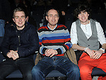Conor, Declan and David O'Boyle pictured at the Jason Byrne show in the Barbican centre. Photo: Colin Bell/pressphotos.ie