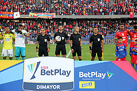 PASTO-COLOMBIA, 07-02-2020: Lisandro Castillo, árbitro durante partido de la fecha 4 entre Deportivo Pasto y Atlético Bucaramanga por la Liga BetPlay DIMAYOR I 2020 jugado en el estadio Departamental Libertad de la ciudad de Pasto. / Lisandro Castillo,  referee during a match of the 4th date between Deportivo Pasto and Atletico Bucaramanga for the BetPlay DIMAYOR I Leguaje 2020 played at the Departamental Libertad Stadium in Pasto city. / Photo: VizzorImage / Leonardo Castro / Cont.