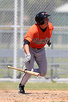 Baltimore Orioles minor league player Cody Young #85 during a spring training game vs the Boston Red Sox at the Buck O'Neil Complex in Sarasota, Florida;  March 22, 2011.  Photo By Mike Janes/Four Seam Images