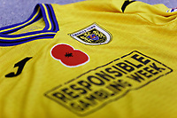 A red poppy on the front of the Swansea third kit in the changing room prior to the Sky Bet Championship match between Sheffield Wednesday and Swansea City at Hillsborough Stadium, Sheffield, England, UK. Saturday 09 November 2019