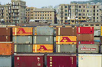 - Genoa, terminal containers....- Genova, terminal containers