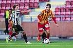 S&ouml;dert&auml;lje 2014-08-18 Fotboll Superettan Syrianska FC - Landskrona BoIS :  <br /> Syrianskas Mijodrag Koprivica i kamp om bollen med Landskronas Niclas R&ouml;nne R&oslash;nne <br /> (Foto: Kenta J&ouml;nsson) Nyckelord:  Syrianska SFC S&ouml;dert&auml;lje Fotbollsarena Landskrona BoIS