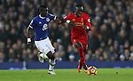 Idrissa Gueye of Everton and Sadio Mané of Liverpool during the English Premier League match at Goodison Park, Liverpool. Picture date: December 19th, 2016. Photo credit should read: Lynne Cameron/Sportimage