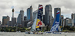 Competitors racing during Day 3 of the Extreme Sailing Series Act 8 Final Showdown in Sydney, Australia on 13th December 2014. Photo by Victor Fraile / Power Sport Images