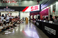 Stanford, CA - February 10, 2018: Stanford Women's Basketball wins over Utah 70-49 at Maples Pavilion. National Girls & Women in Sports Day.