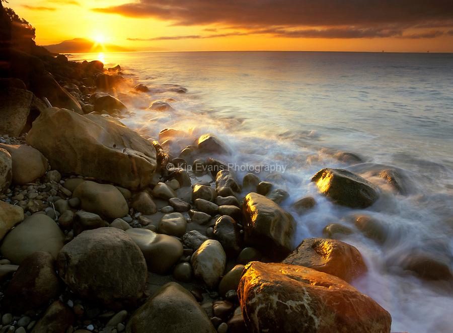 Sunrise along the coast of Santa Barbara, CA