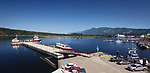 Port Alberni panoramic view of Alberni Inlet with docked ships, Alberni Valley, Vancouver Island, British Columbia, Canada 2018 Image © MaximImages, License at https://www.maximimages.com