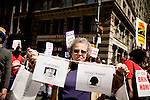 On April 29th, 2006 thousands of anti-war protesters rallied at Union Square in Manhattan and marched down Broadway to show their anger at the Bush administration for the continuing war in Iraq.. Faces of those US soldiers killed in Iraq.