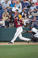 July 4, 2009: Yakima Bears catcher Tyson Van Winkle at-bat during a Northwest League game against the Everett AquaSox at Everett Memorial Stadium in Everett, Washington.